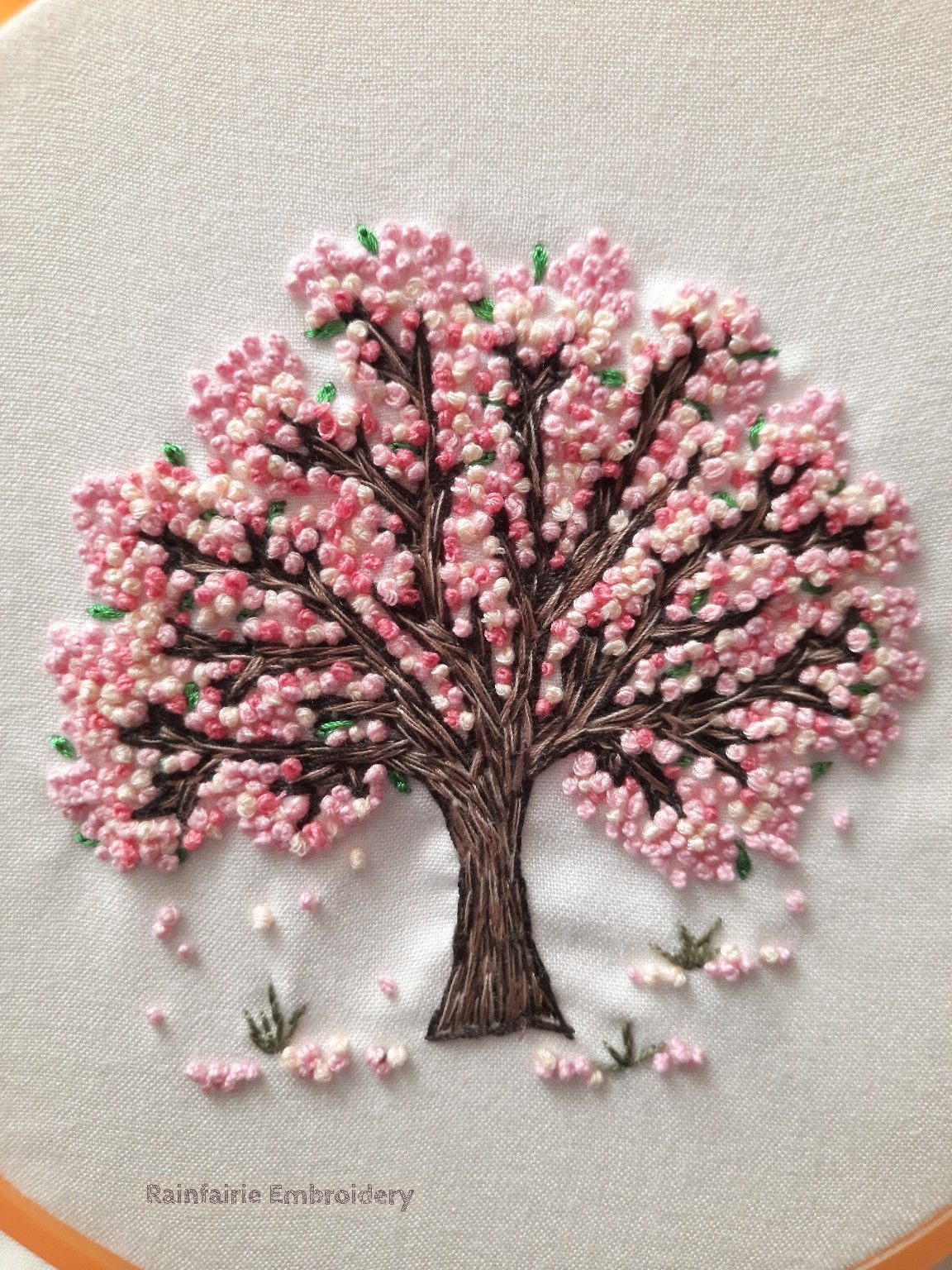Sakura Cherry Blossoms Flower Embroidery Designs Diy Embroidery Designs Embroidery Flowers Pattern