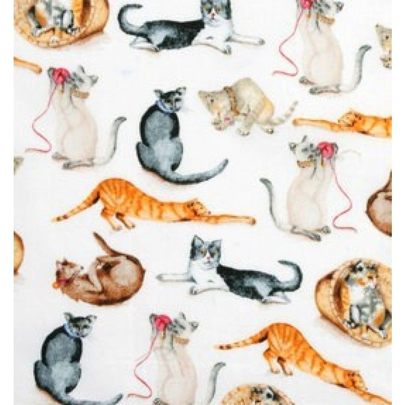 M2807-B Tecido para Patchwork Cats Playing - KG20 - A partir de: