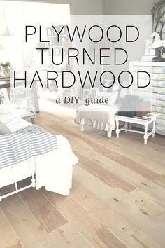 Plywood Turned Hardwood Flooring Diy The Other Side Of Neutral Diy Hardwood Floors Diy Flooring Plywood Flooring