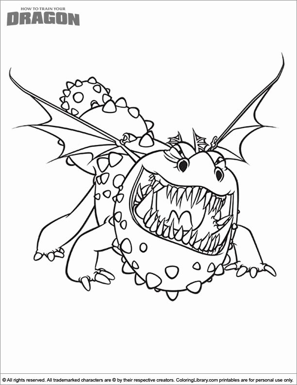 How to Train Your Dragon Coloring Pages Kids in 2020 ...