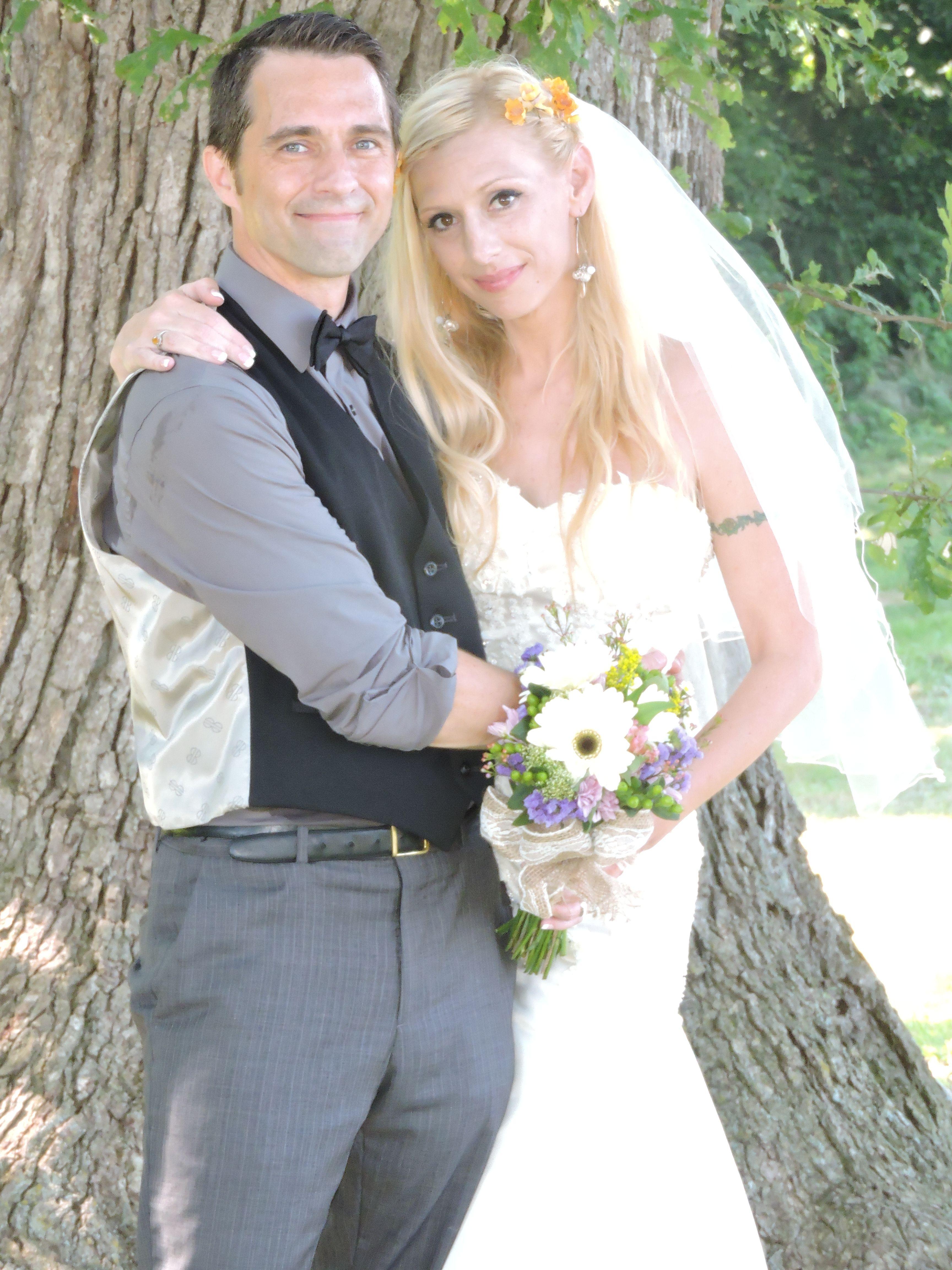 Juj as mr u mrs after wedding ceremony on kentucky farm j u jus