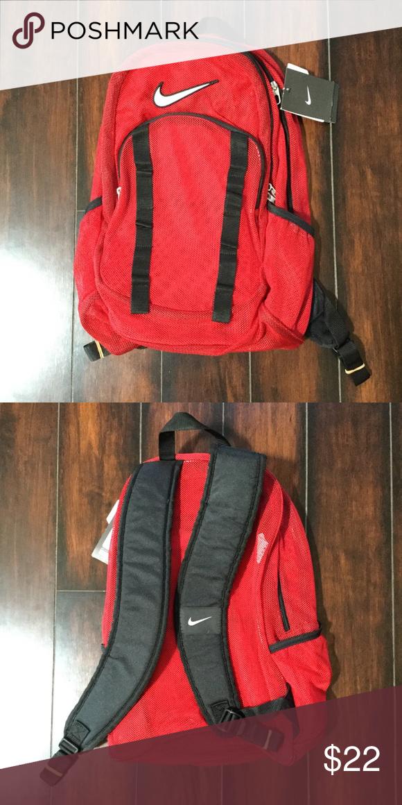 NWT Nike Brasilia red mesh backpack Brand new Nike Brasilia red mesh  backpack Nike Bags Backpacks 4d018b5a2e