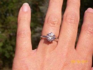 Better Than Diamond >> Tiffany Reproduction Ring From Better Than Diamond Engagement Ring