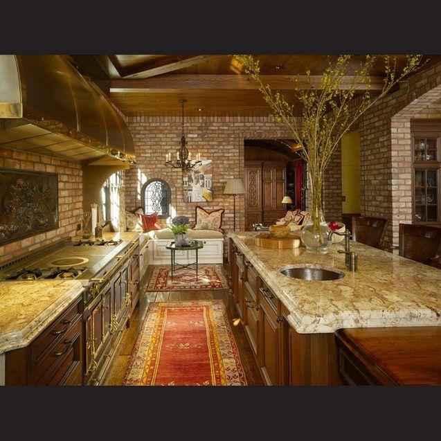 Kitchen Trends Knotty Alder Kitchen Cabinets: Countertops In Delicatus Bordeaux Granite Complement The