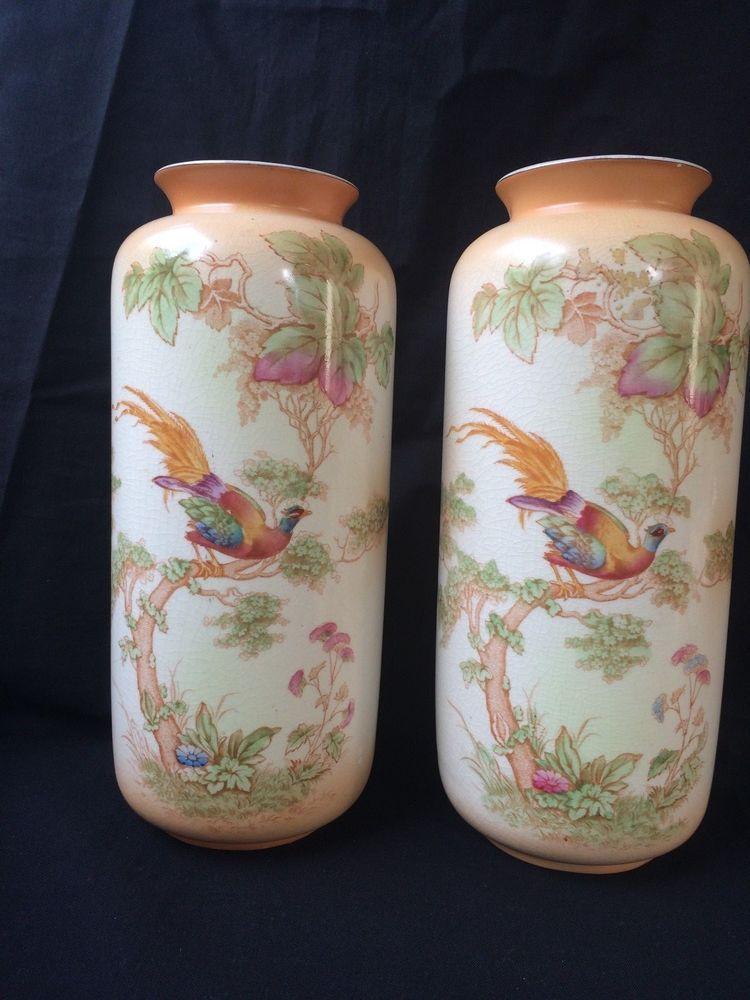 Antique Vases Crown Ducal Agardson Co Ltd Pottery Pre 1920s