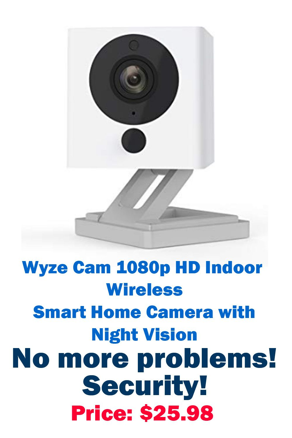 Wyze Cam 1080p Hd Indoor Wireless Smart Home Camera With Night Vision 2 Way Audio In 2020 Works With Alexa Home Camera Smart Home