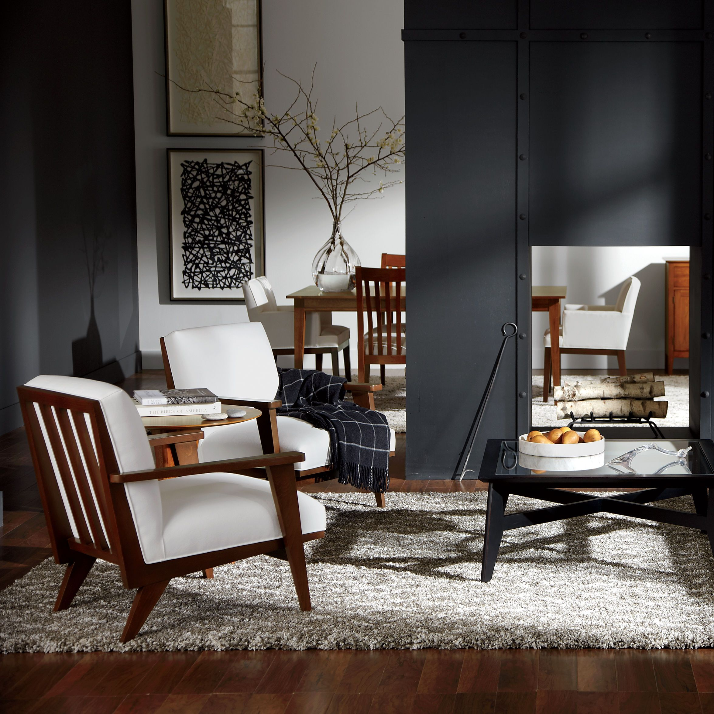 Black and white living rooms Trevor Coffee Table Ethan Allen US
