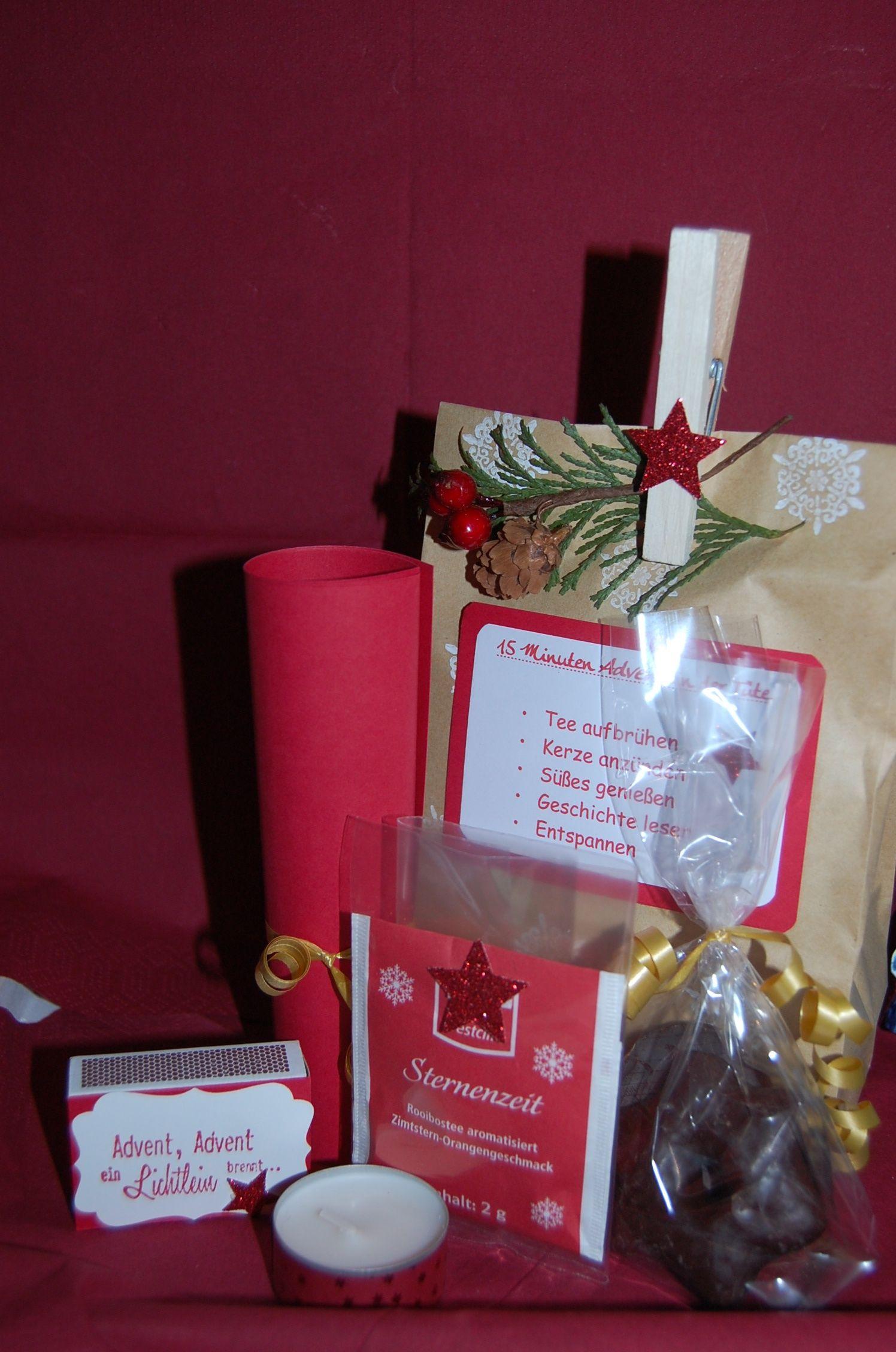 Weihnachtsgeschenke Mitarbeiter.Conny S Manufaktur 15 Minuten Advent In Tüte ötletes Ajándékok