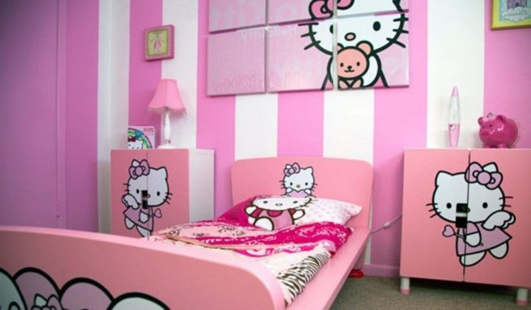 [For Girls Only] Lovely Hello Kitty Bedroom Decoration Ideas   TSP Home  Decor