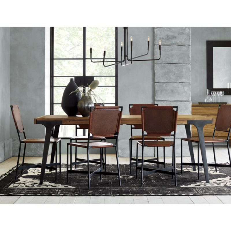 Room Lakin Recycled Teak Extendable Dining Table