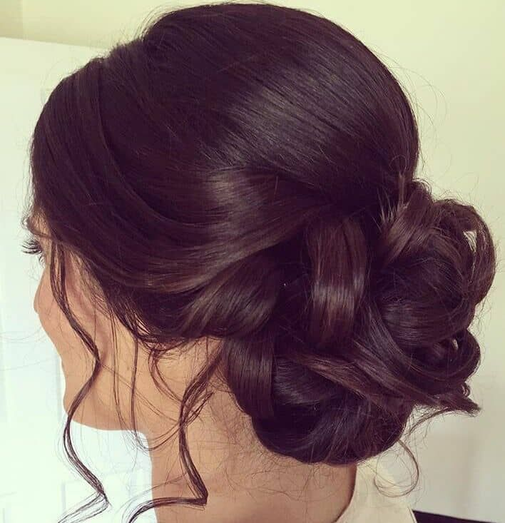Bridesmaid Hair On Upstyle Hairstyle Bridesmaids Bridesmaid Lowbun Hair Styles Bride Hairstyles Hairstyle