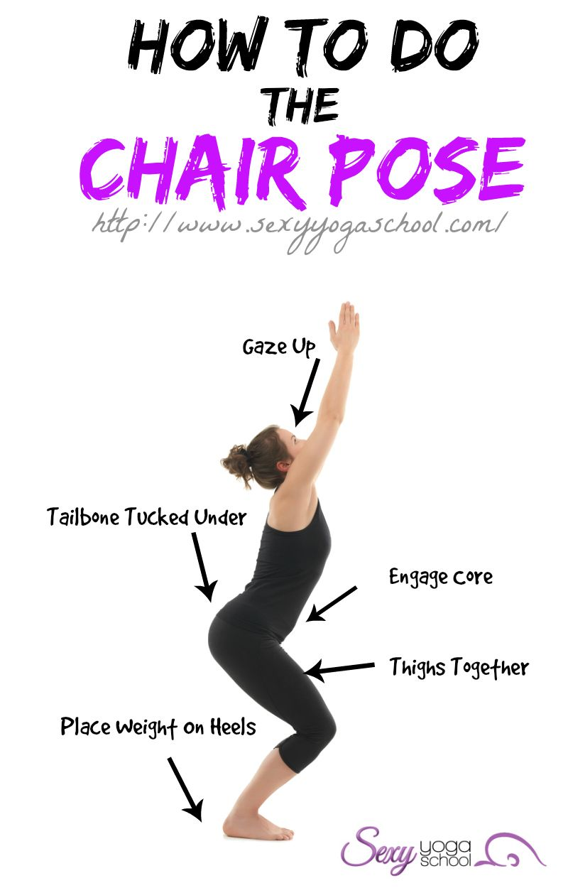 yoga chair pose black wire the is one of poses you will learn in start your journey it named as such because action involves squatting or