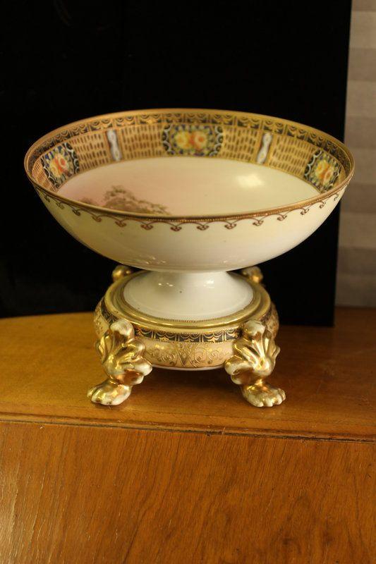 Vintage Nippon China 2 piece hand painted large bowl. | Porcelain ...