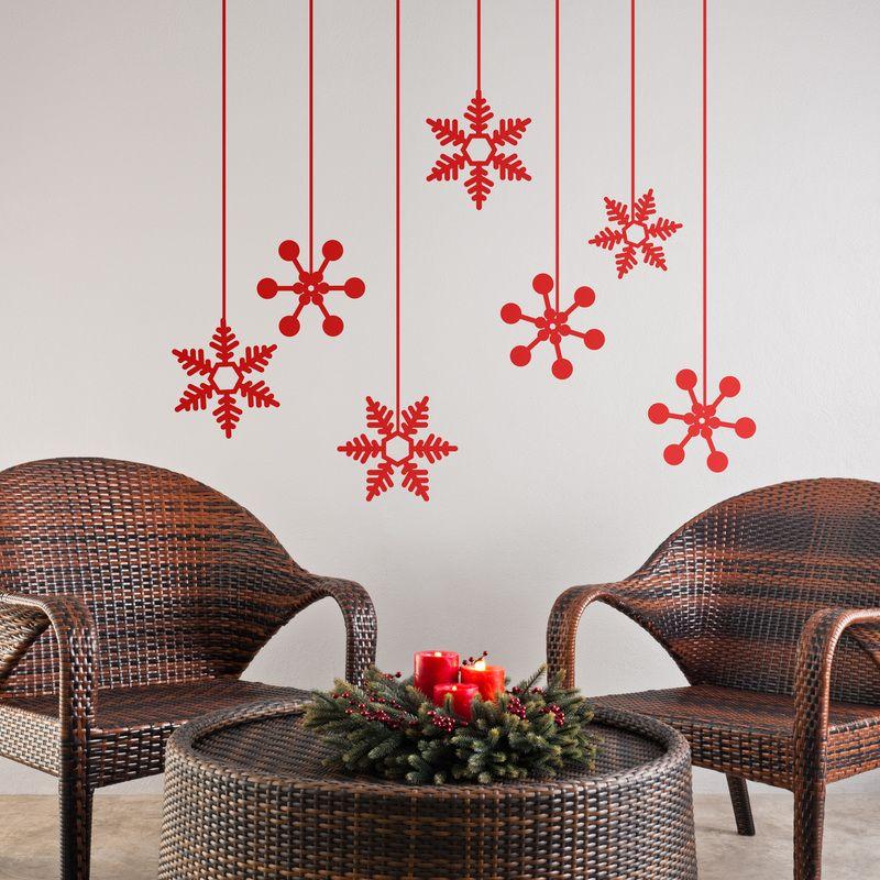 Vinilos Decorativos Estrellas De Invierno Pared Decorar Navidad Vinilo Cristal Nie Decoracion Navidena Decoracion Navidena Oficina Navidad En La Oficina