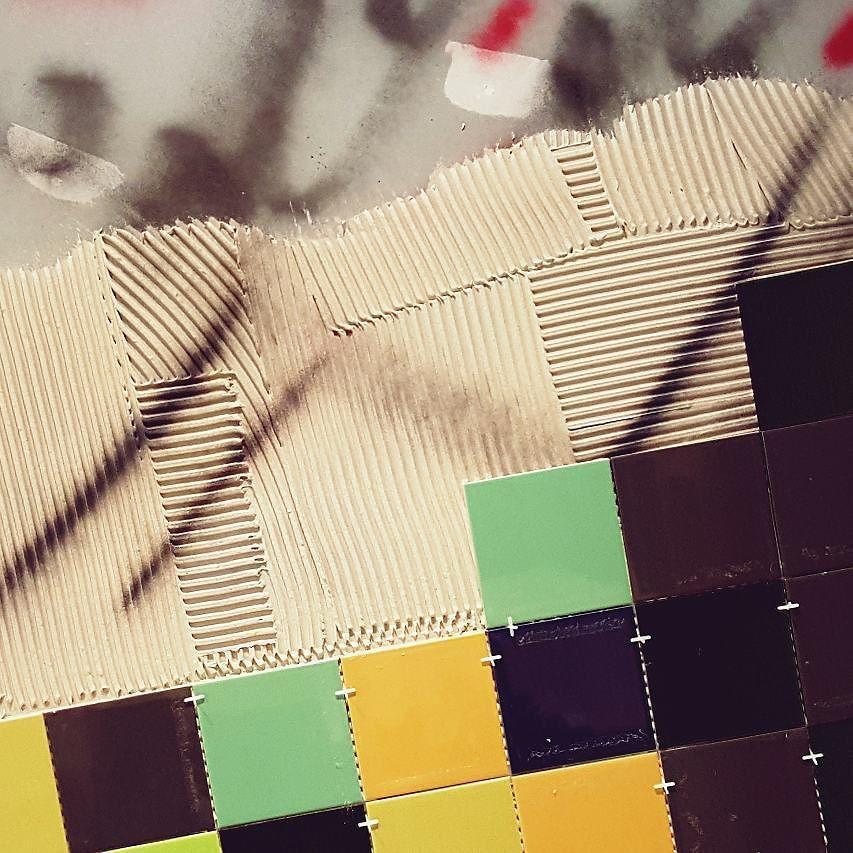 F E A T U R E  W A L L #restaurant #tiler #interior #tiling #customrestaurant #customdesign #interior #screeding #design #lifestyle #luxury #designinspo #luxurylife #brickpattern #melbournetiler #DYNAMICSTILING #tileaddiction #tileporn #melbourne #tilepattern #tiledesign #featurewall by dynamicstiling