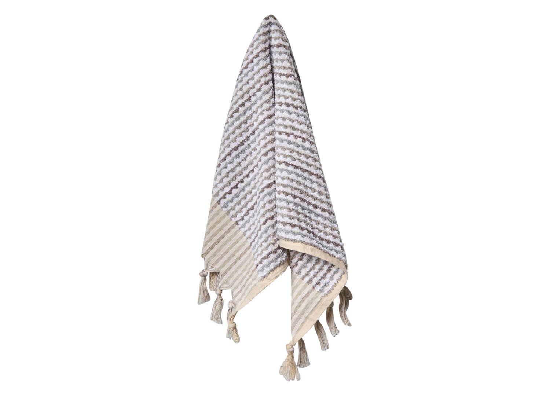 Loom Grey and White Wave Hand Towel   est living Design Directory #handtowels
