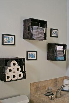 Bathroom Storage Baskets For Towels Toilet Paper Etc Love The Teal Diy Bathroom Storage Bathroom Basket Storage Bathroom Wall Decor