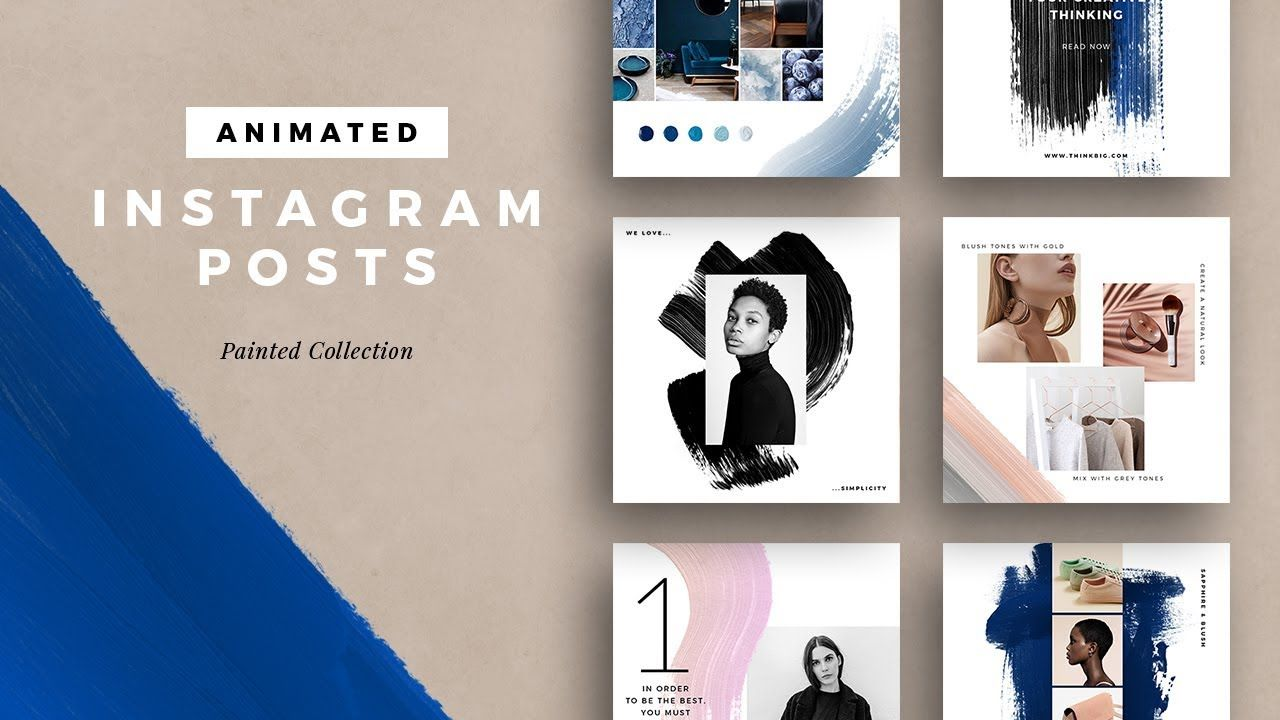 Animated Instagram Posts Painted Collection
