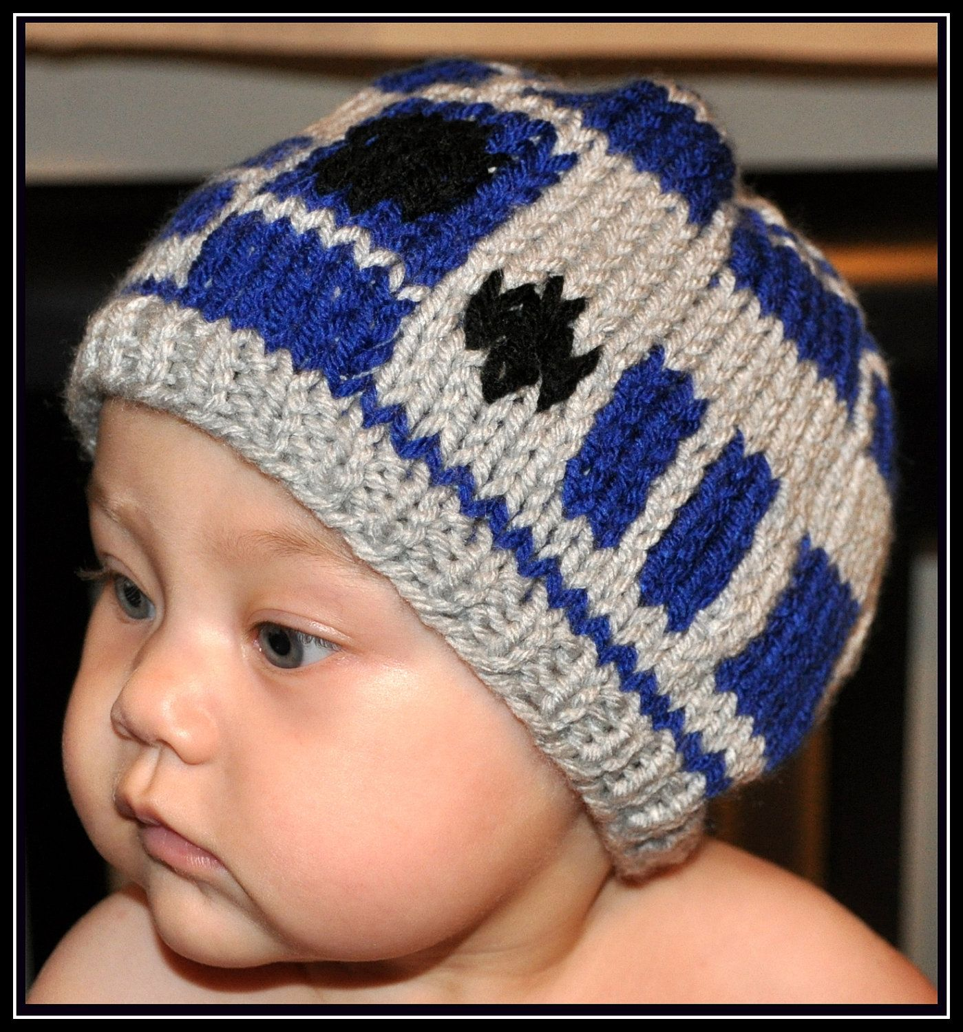 Knit Star Wars R2D2 Hat -- Newborn, Infant, Toddler -- Baby Clothing ...