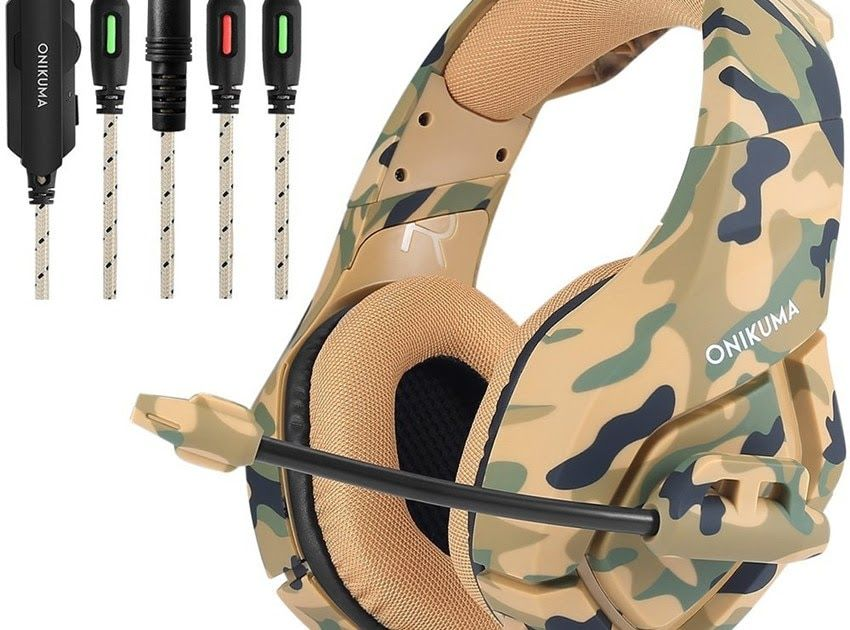 Hot Offer Onikuma K1 Camouflage Ps4 Headset Bass Gaming Headphones