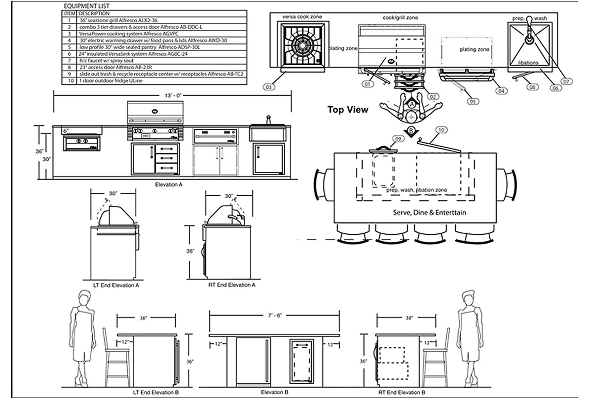 outdoor kitchen design plans free replace sink pdf zitzat kitchens