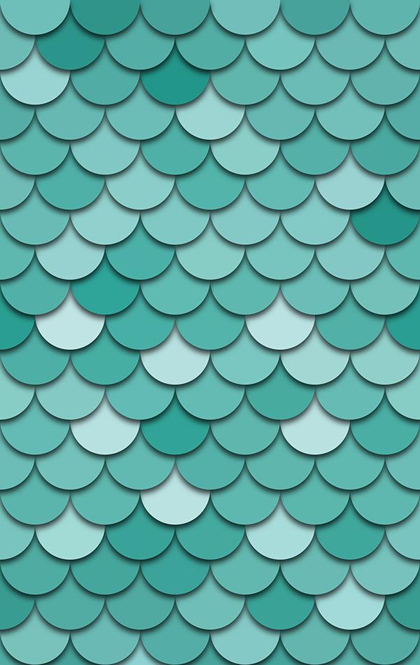 Teal Fish Scale on Behance Mint green wallpaper, Mermaid