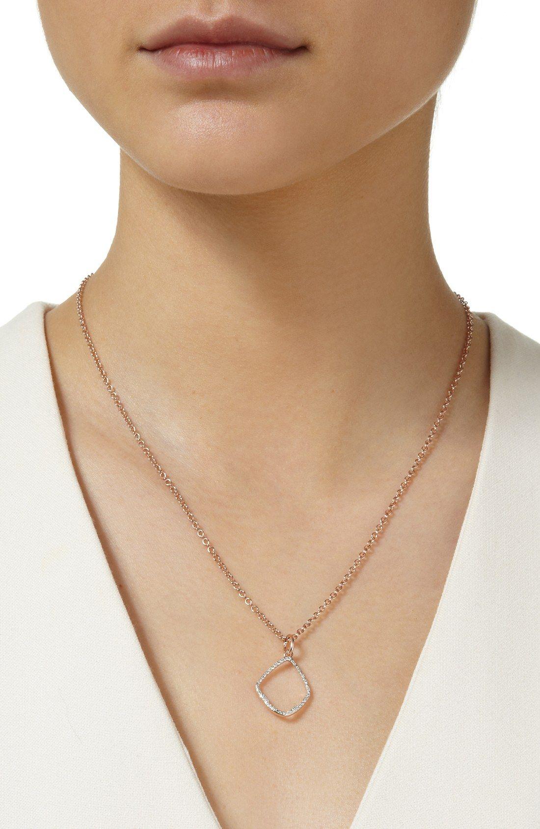 9b01e77b72c295 Monica Vinader 'Riva' Diamond Hoop Pendant | wish list | Pendants ...