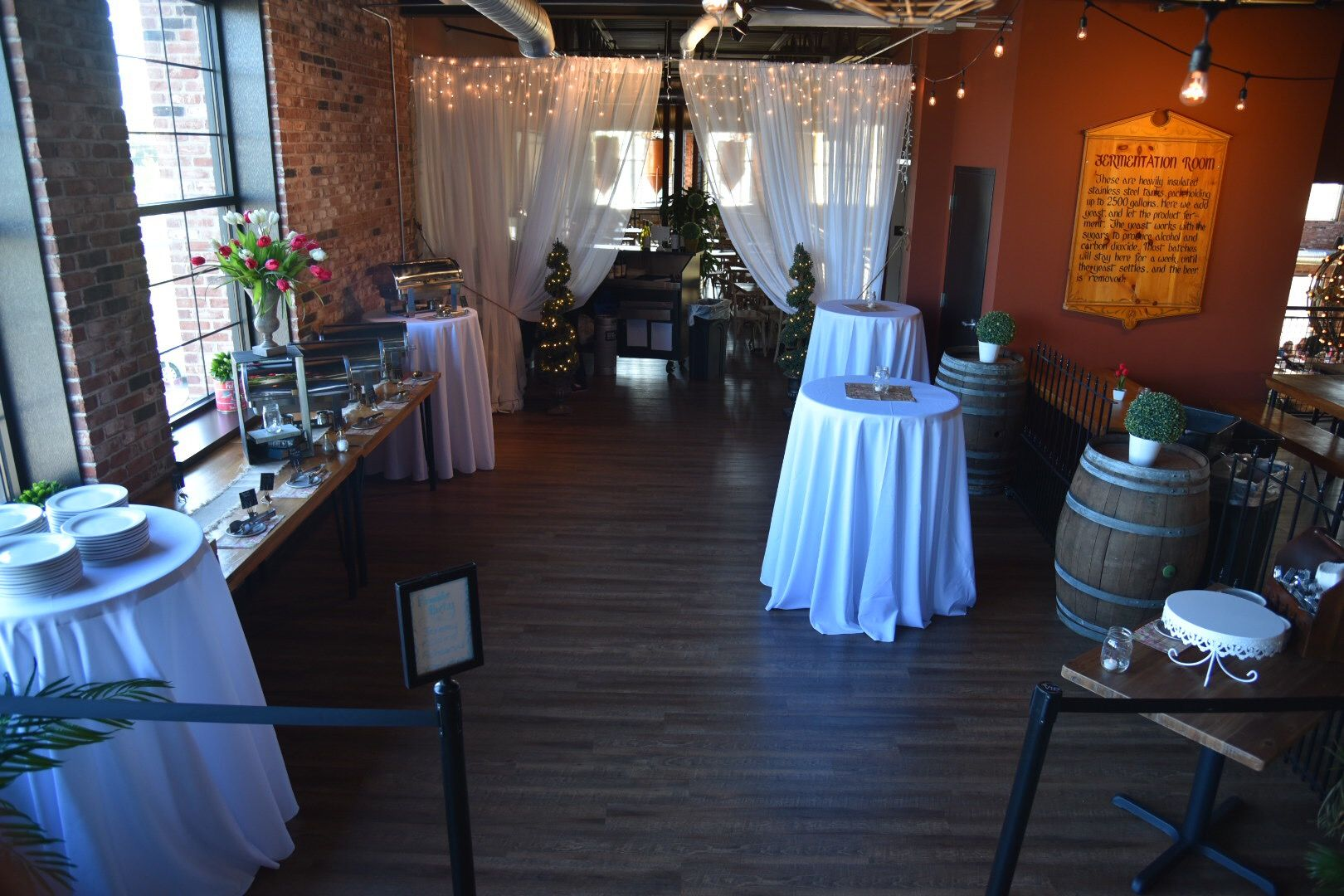 Beautiful Private Dining Room At New York Beer Project Rustic Wedding Venue For Receptions