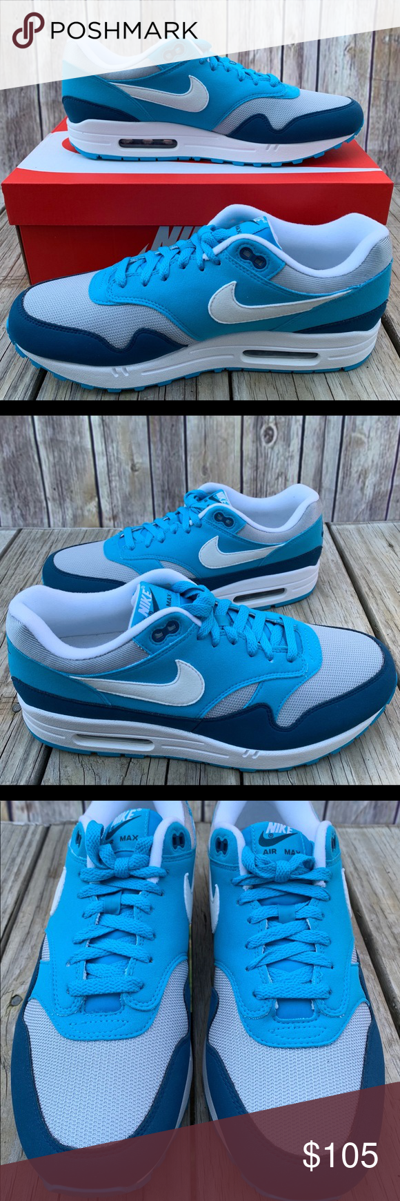 the latest 99f63 58aa3 Nike Air Max 1 Light Blue Fury sz 10.5 Nike Air Max 1 Men s Shoes Wolf