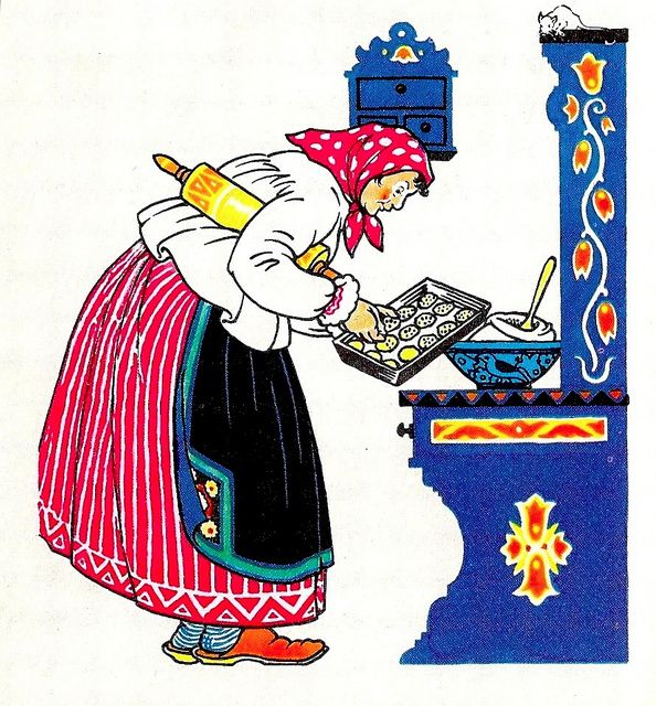 """""""The Poppyseed Cakes"""" - illustrated by Maud and Miska Petersham (1924) by docarelle, via Flickr"""