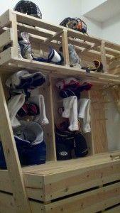 DIY - Sports Locker - Hockey - Soccer - I just haven't painted it yet.