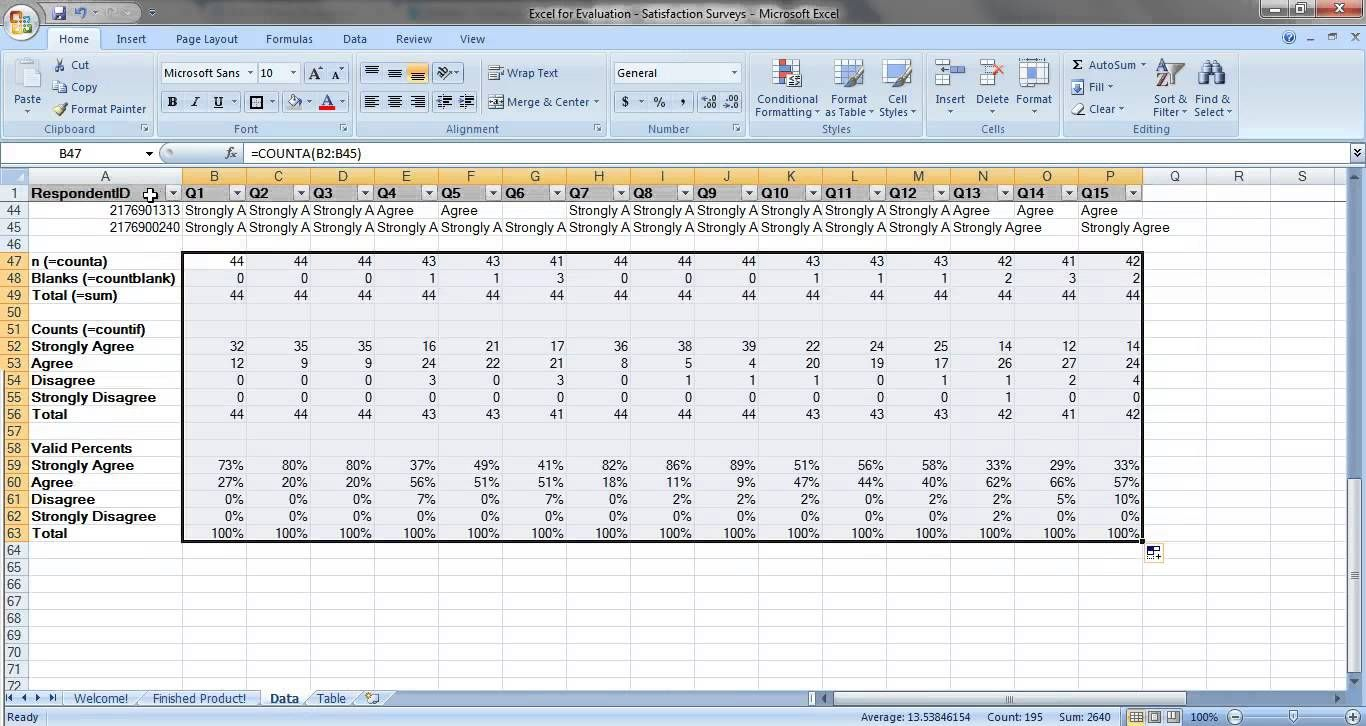 How To Analyze Satisfaction Survey Data In Excel  Excel Data
