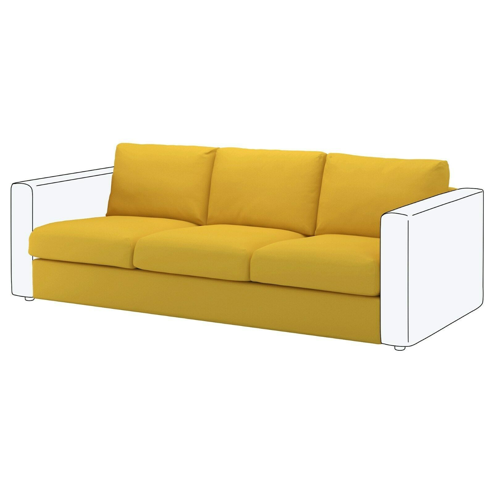 Ikea Vimle Slipcover For 3 Seat Sofa Orrsta Golden Yellow 203 510 73 Brand New Ikea Sofa Ideas Of Ikea Sofa So In 2020 Ikea Sofa Ikea Vimle Modular Sectional Sofa
