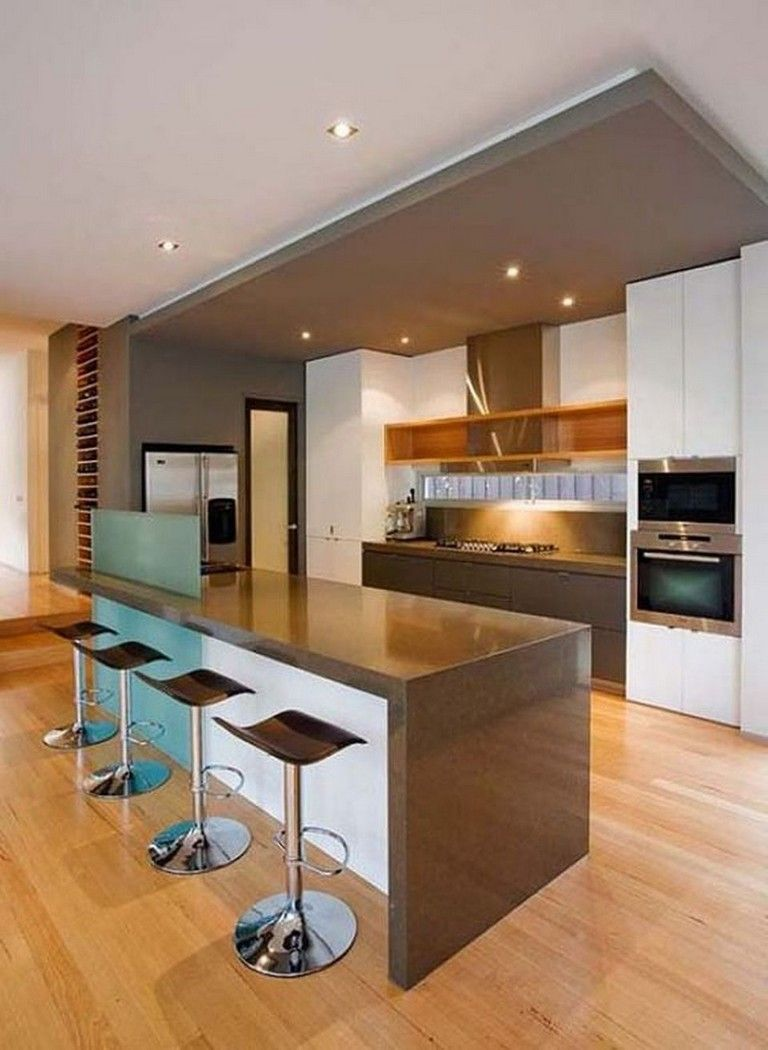 67 Amazing Modern And Contemporary Kitchen Cabinets Design Ideas Page 44 Of 70 Contemporary Kitchen Diy Kitchen Remodel Bar Height Kitchen Table