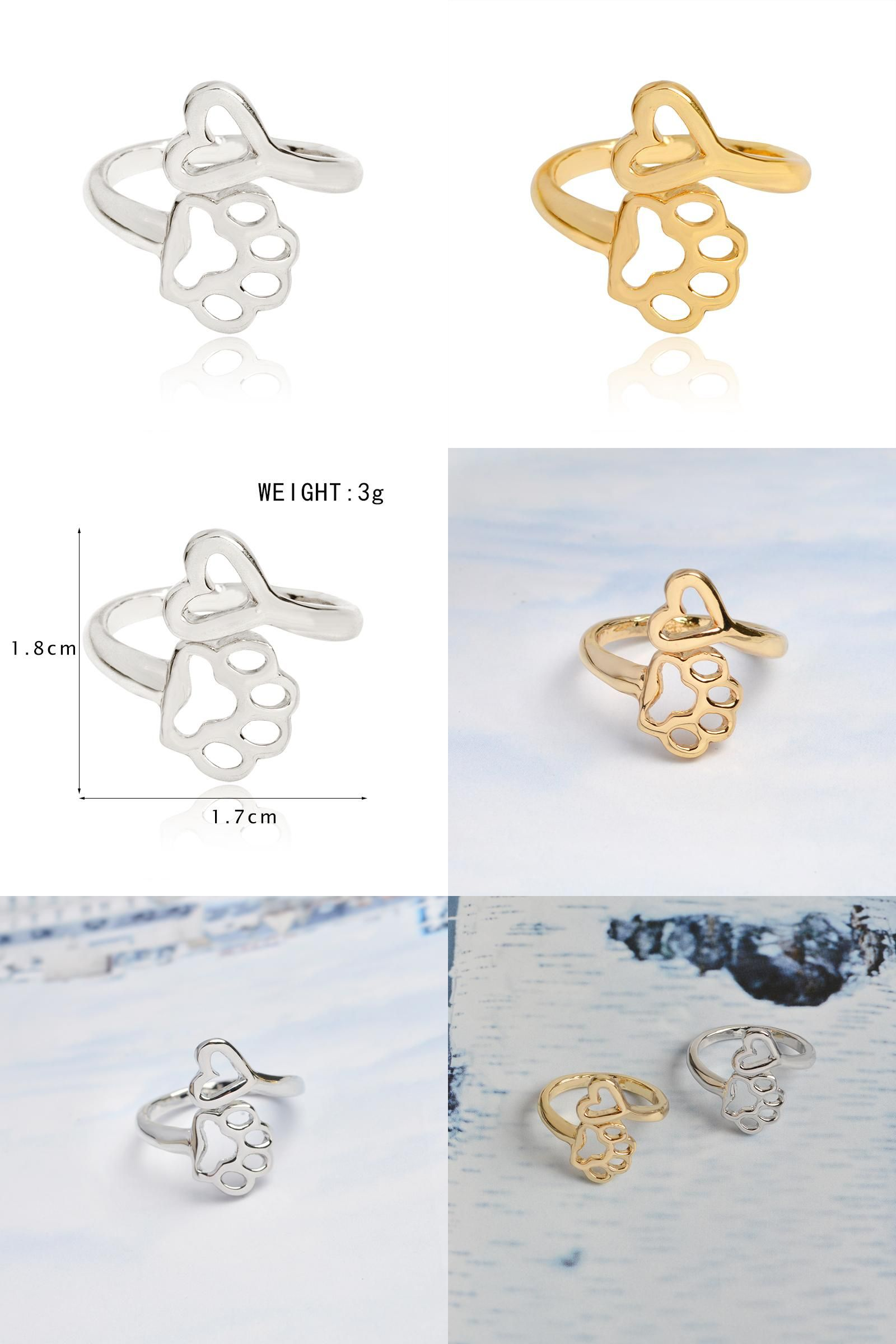 ff46526edc5d1 Visit to Buy] Always By My Heart Adjustable Ring Hollow Love Silver ...