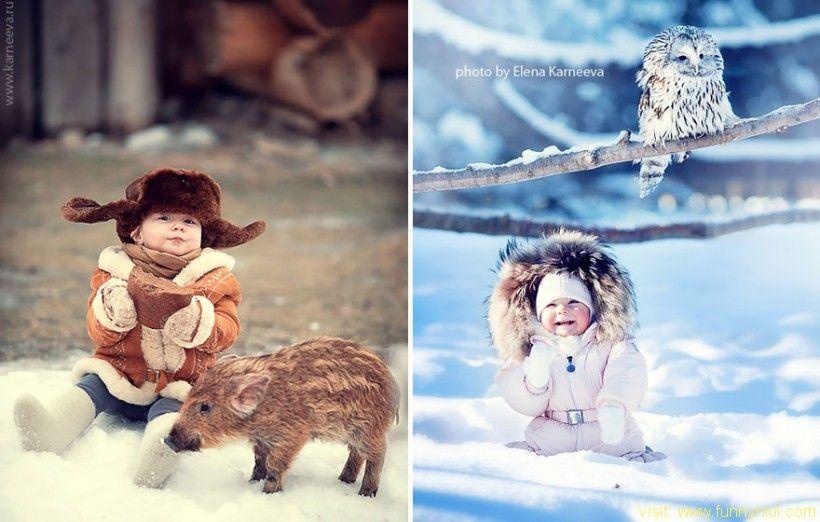 Children And Animals Cuddle In Cute Photoshoots By Russian Photographer Elena Karneeva by http://www.funnynlol.com/amazing/children-and-animals-cuddle-in-cute-photoshoots-by-russian-photographer-elena-karneeva