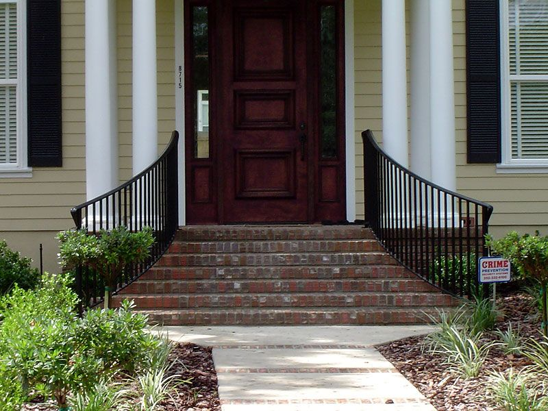 Exterior Railing With Images Wrought Iron Stair Railing