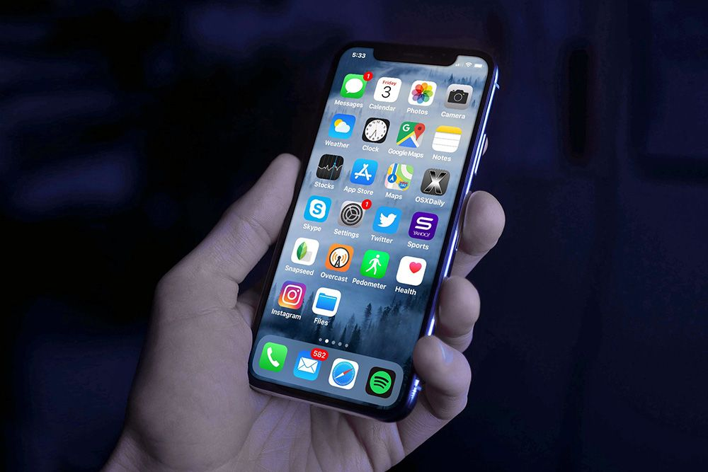 Iphone X In Hand On Dark Background Mockup Iphone Apple Launch Iphone Owner