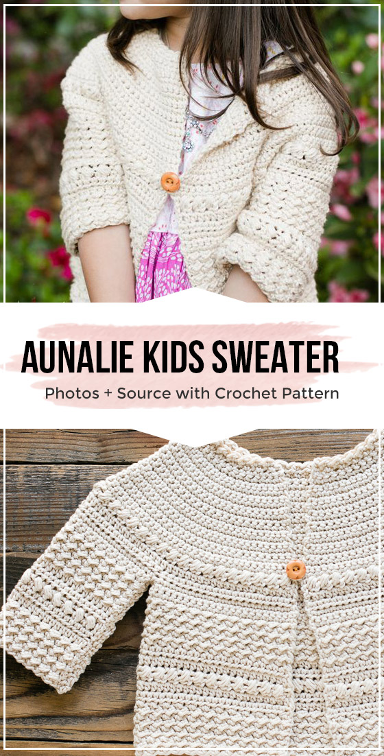 Photo of baby and kids easy crochet sweater pattern