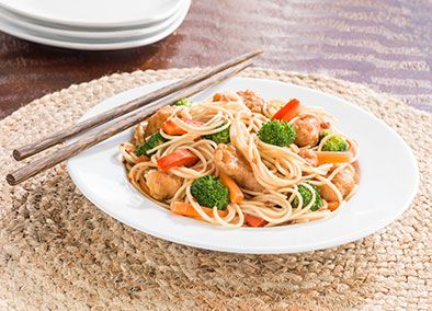 General tsos chicken with yakisoba noodles kahiki foods asian general tsos chicken with yakisoba noodles kahiki foods forumfinder Choice Image
