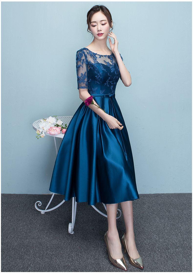 Banquet evening dress elegant mediumlong quiz master formal dress