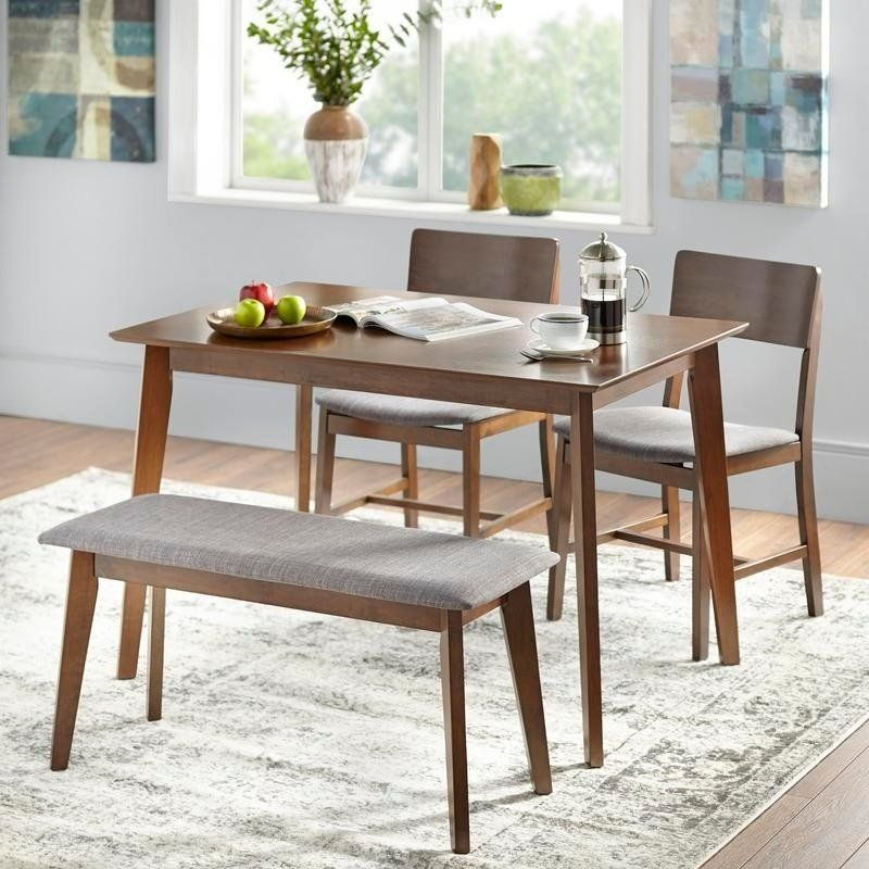 Magnificent Simple Living Judith Dining Set With Bench Blue Products Ncnpc Chair Design For Home Ncnpcorg