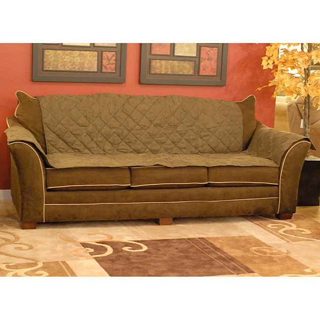 K H Manufacturing Microsuede Sofa Furniture Cover 7821 Couch Mocha Brown Polyester