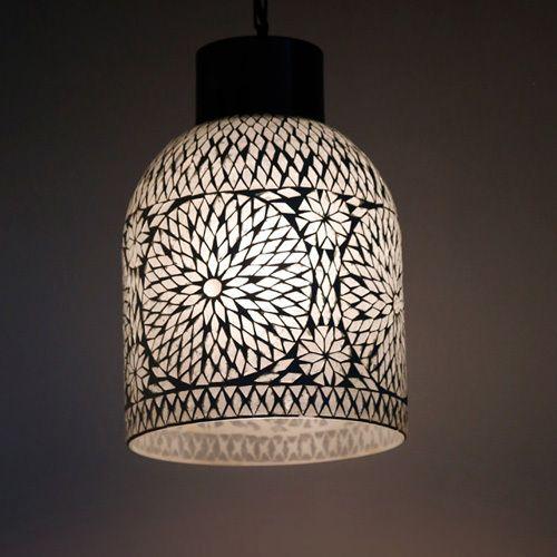 Hanglamp Open Glasmozaiek Turkish Design Transparant Hanglamp Mozaiek Lampen