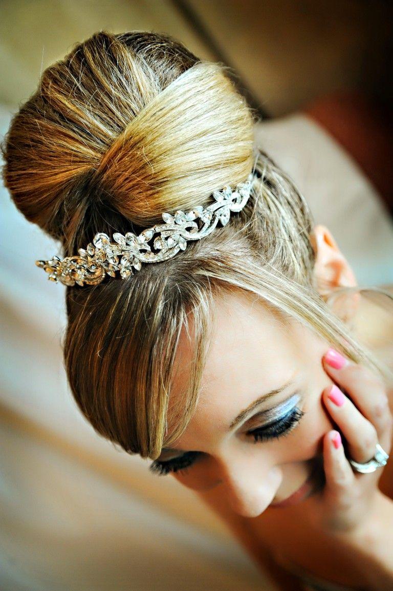 Dramatic Bun Updo Beautiful Wedding Hair Wedding Hair And Makeup Bridal Hair And Makeup