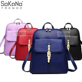 Sokano Trendz Korean Style Pu Leather 318 Backpack Blue Online At Lazada Malaysia Prices And Promotional On All Backpacks