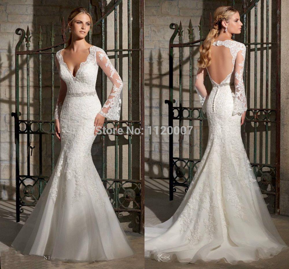 vestido de noiva seria com manga longa - Pesquisa Google