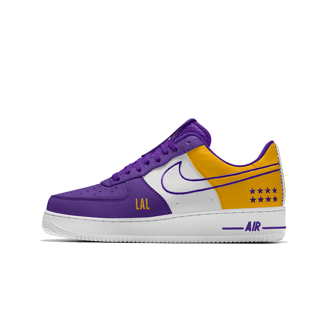 Nike Air Force 1 Low Premium iD (Los Angeles Lakers) Men's Shoe