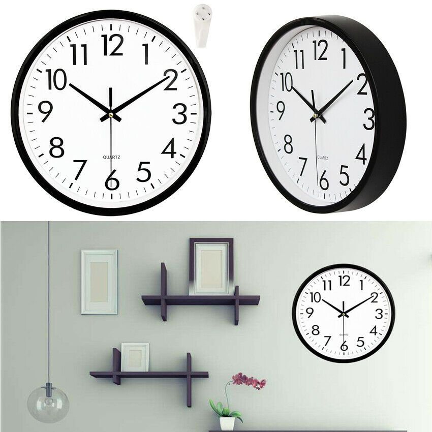 Classic 10 Inch Large Indoor Outdoor Silent Precise Quartz Wall Clock W Hook Us Clock Ideas Of Clock Clock Classic 10 Inch Large Wall Clock Clock Wall