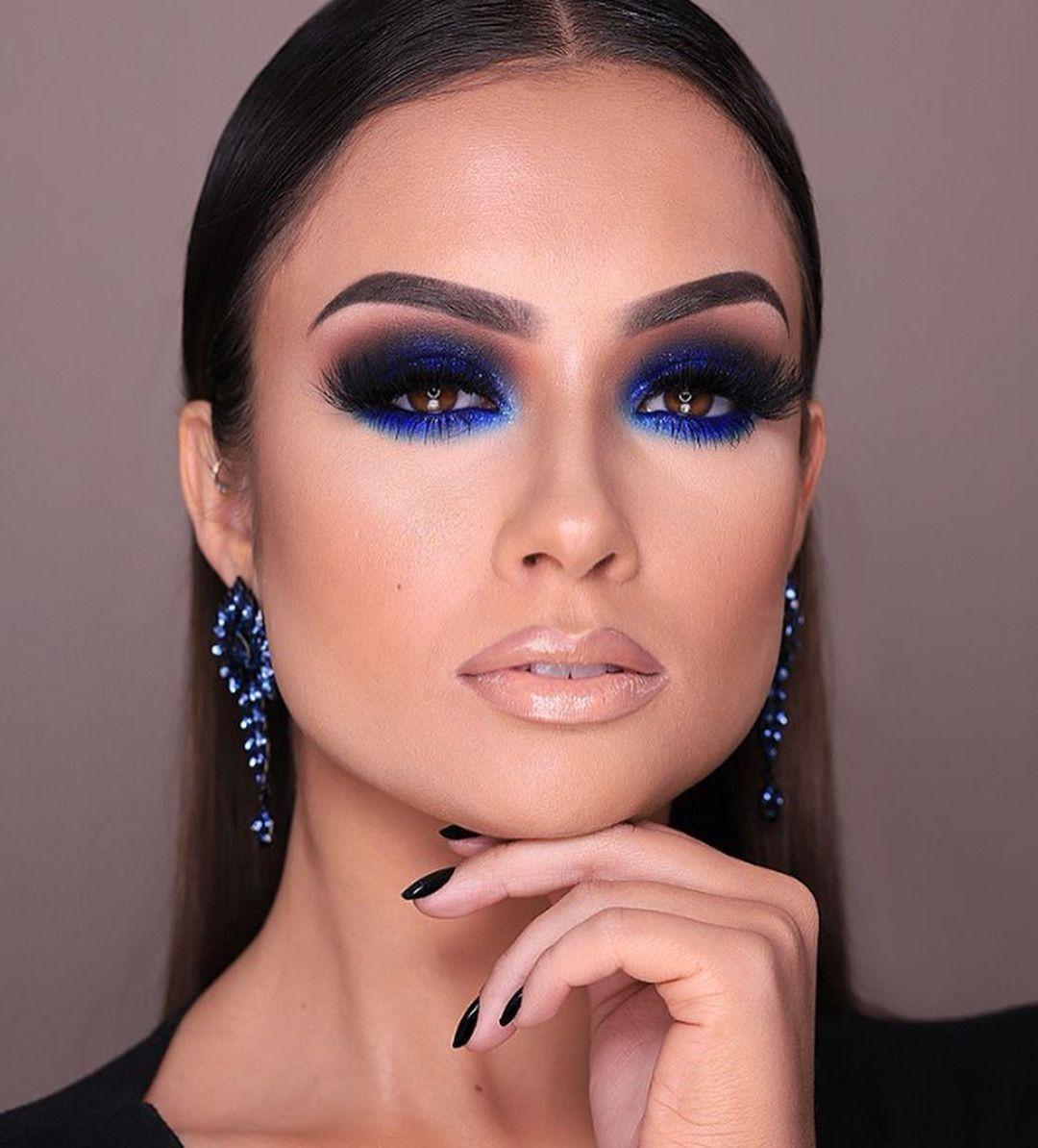 макияж синего цвета фото коктейльных платьев подтверждают